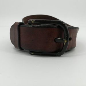 Fossil Brown Leather Belt Size 32